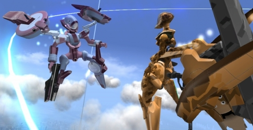 Look, mum! Giant flying robots!