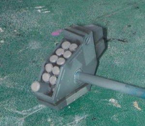 Close-up of missile rack